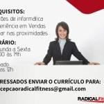 RECEPCIONISTA DE ACADEMIA – BELO HORIZONTE/MG