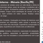 VENDEDOR INTERNO – RECIFE/PE