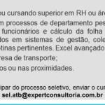 AUXILIAR DE RH – GUARULHOS/SP