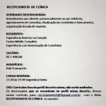 RECEPCIONISTA DE CLINICA – FORTALEZA/CE