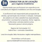CONSULTOR (A) DE LOCAÇÃO – BELO HORIZONTE/MG