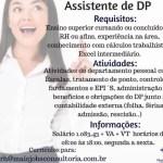 ASSISTENTE DE DP – FORTALEZA/CE
