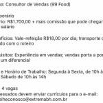 CONSULTOR DE VENDAS (4 VAGAS) – BELO HORIZONTE/MG