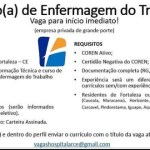 TÉCNICO(A) ENFERMEIRO DO TRABALHO (ENVIAR CV ATÉ 17/06/20) – FORTALEZA/CE