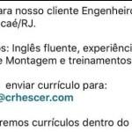 ENGENHEIRO DE SEGURANÇA DO TRABALHO – MACAÉ/RJ