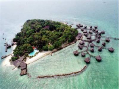 Beautiful Bidadari Island Indonesia