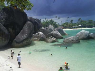Beautiful Tanjung Tinggi Beach Indonesia