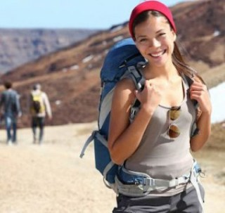 Beautiful backpacker