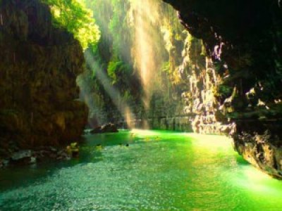Amazing Green Canyon Pangandaran Indonesia