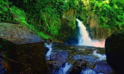 Beautiful Lae Une Waterfall Indonesia