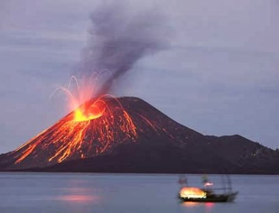Krakatau Mountain Indonesia