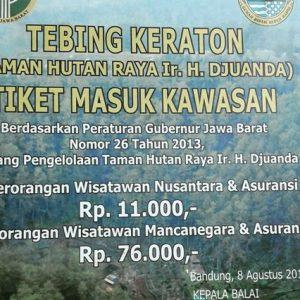 Tiket Masuk Wisata Tebing Keraton Dago Bandung