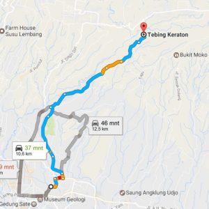 Jalan Menuju Wisata Tebing Keraton Dago Bandung
