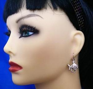 Punky fish earrings