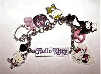 Hello kitty punk charm bracelet