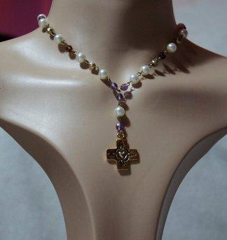 Faith Lolita beaded cross necklace