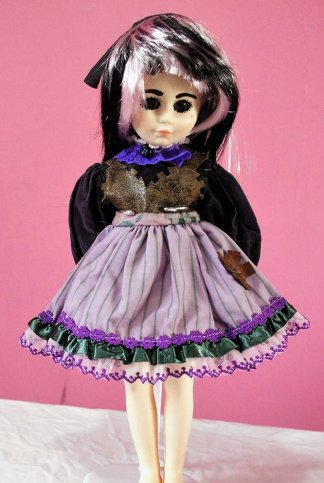 Purple Steampunk Lolita cog dress