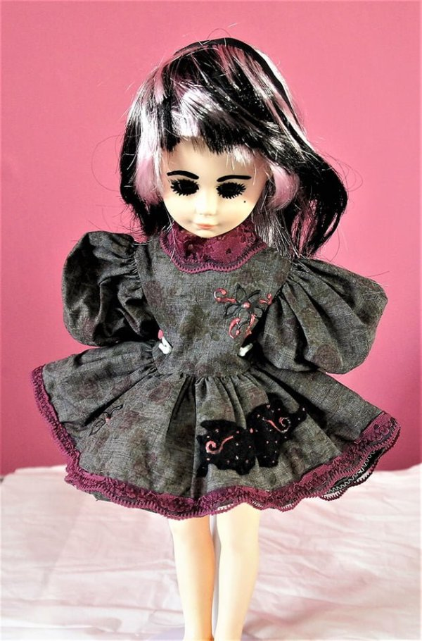 Gothic Lolita black butterfly dress