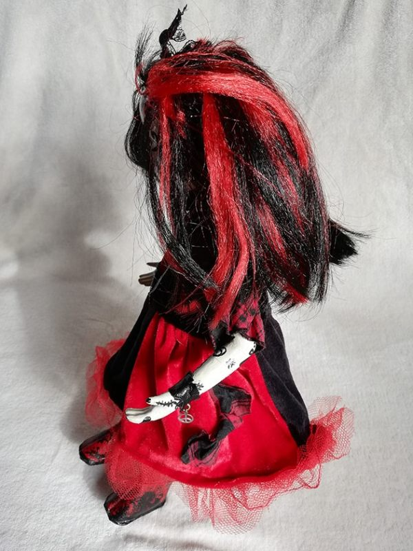Day of the dead Día de Muertos doll (black and red dress)
