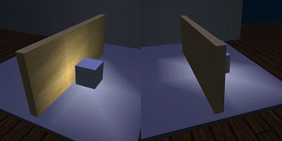 Blocked light example