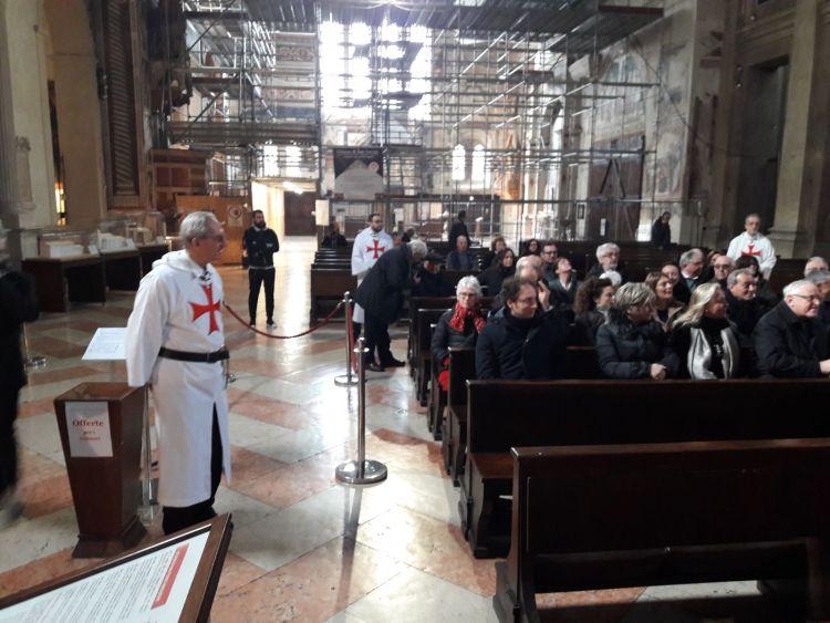 Verona Templari Cattolici d'Italia Vescovo e Autorità in san Fermo