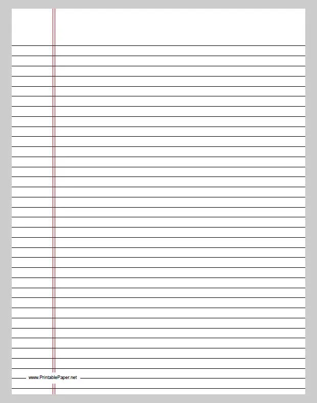 Doc.#550712: Free Lined Paper to Print – Free Printable Lined ...