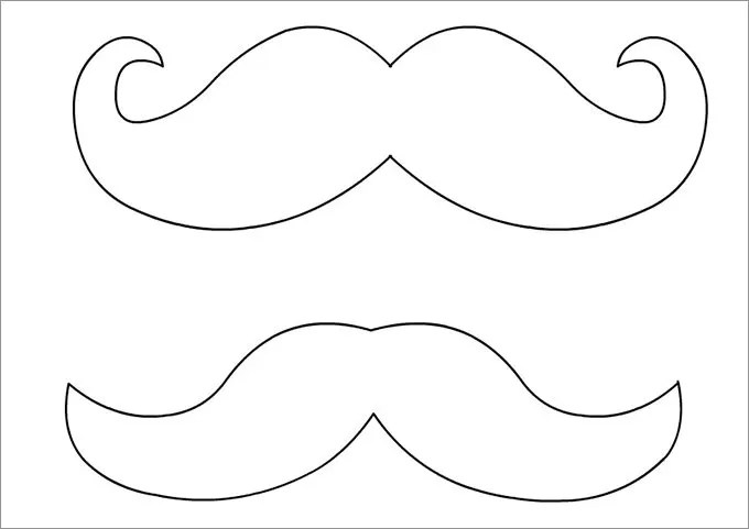 It's just a picture of Printable Lorax Mustache and Eyebrows throughout body