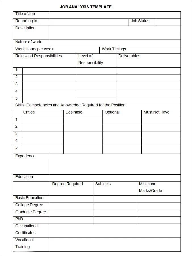 Jsa Template Free. jsa form blank jsa forms. jsa form template job ...