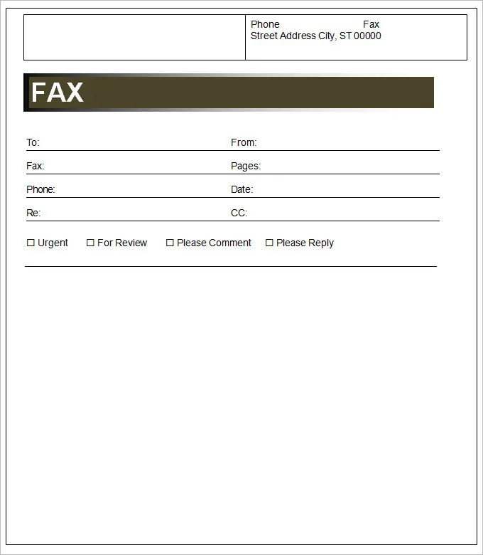 Ms Word Fax Template microsoft word fax cover sheet templates fax – Sample Fax Letter