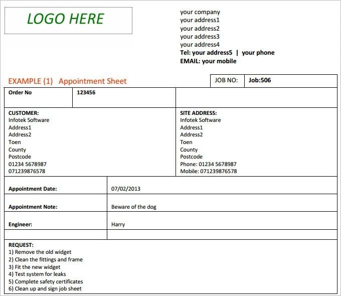 Excel Job Sheet Template 12 hourly timesheet templates free – Sample Job Sheet Template