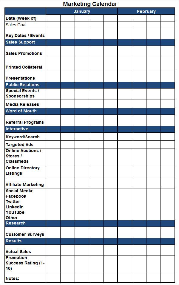 Marketing Calendar Template free marketing calendar 2015 calendar – Sample Marketing Calendar