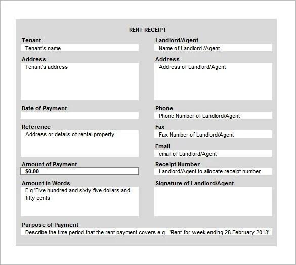 Landlord Receipt Template receipt template best photos of deposit – Monthly Rent Receipt