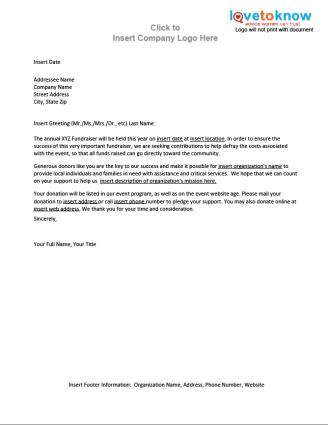 Solicitation Letter For Donations Templates Free Printable