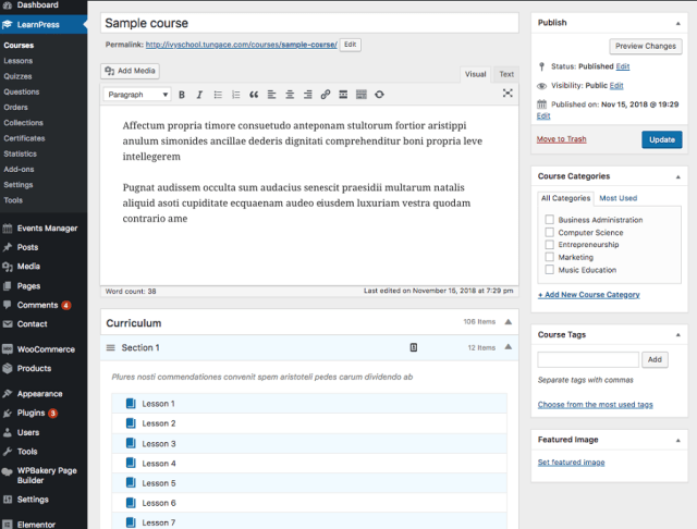 learnpress install 3