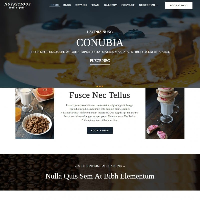 Chef Website Template Templateonweb