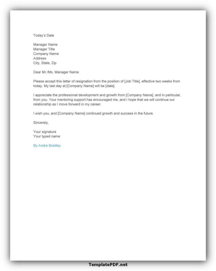 Two weeks notice Template 10