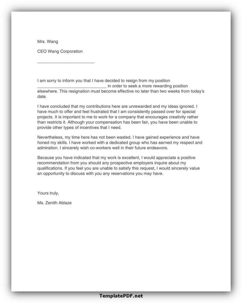 Two weeks notice Template 27