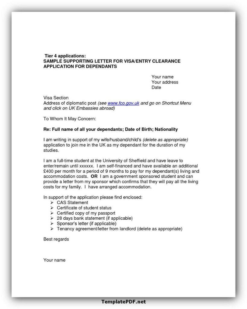 Employment Letter For Visa UK