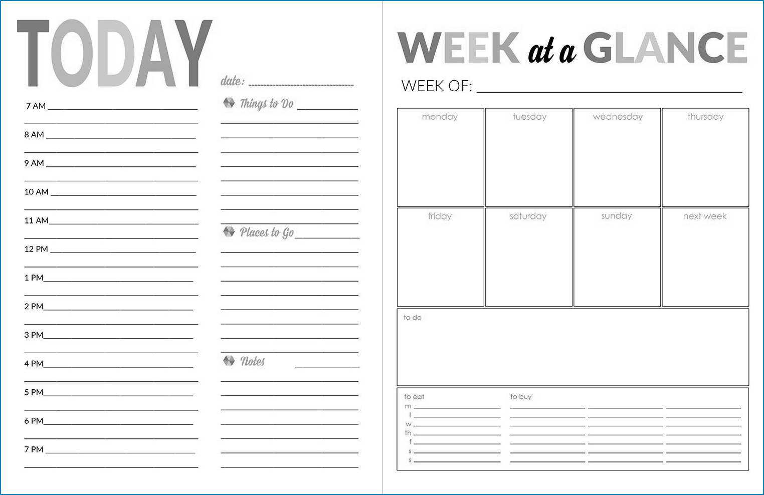 Free Printable Daily Calendar Template