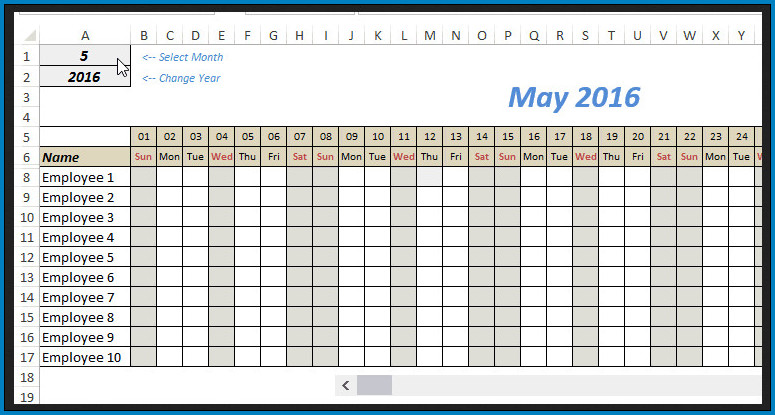 Free Editable Monthly Schedule Template Excel Templateral