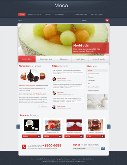 ZT Dory Joomla VirtueMart Template for Shopping Cart with Online ...