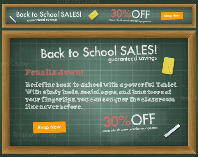 Back To School Web Banner Ads