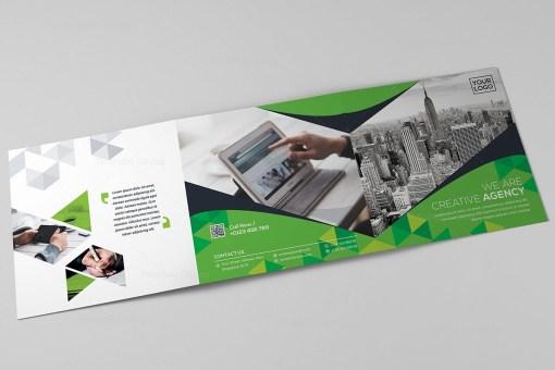 Square Tri-Fold Business Brochure Template