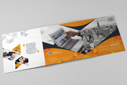 Square Tri-Fold Business Brochure Template