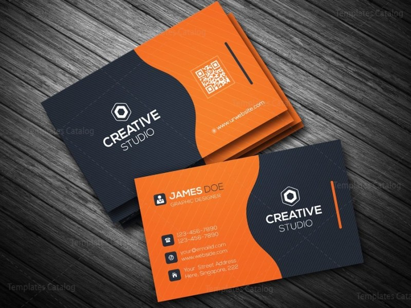 Business Card Template in EPS Format 000088   Template Catalog business card template in eps format 2