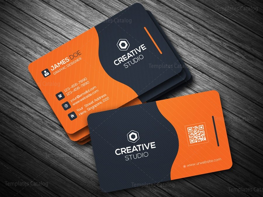Business Card Template in EPS Format 000088   Template Catalog business card template in eps format