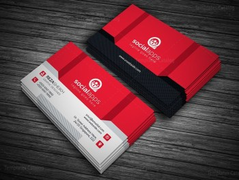 3D Effect Business Card Template
