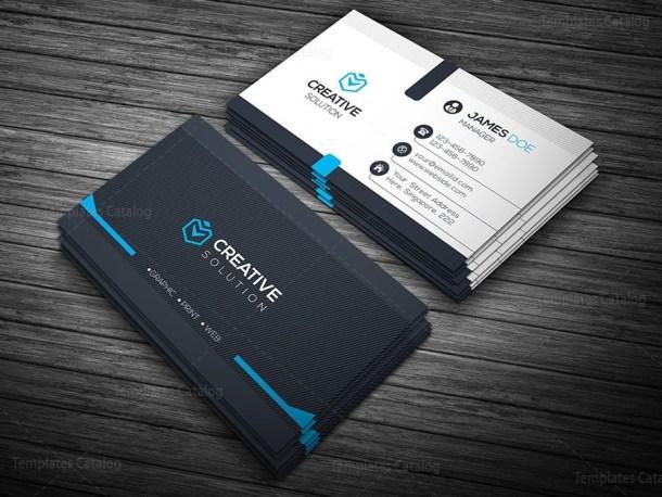 Elegant Business Card Blue