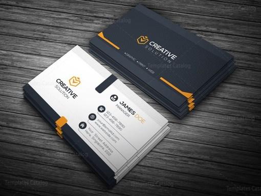 Elegant Business Card Orange