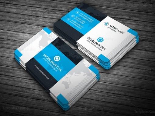 Modern Pro Business Card Template Blue